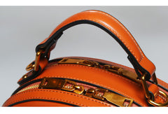 Genuine Leather round crossbodybag handbag shoulder bag for women leather bag
