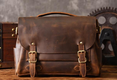 Handmade leather mens Briefcases Messenger bags Vintage Laptop Briefcases Business Briefcases