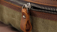 Mens Waxed Canvas Overnight Bag Canvas Weekender Bag Canvas Travel Bag for Men
