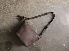 Vintage LEATHER WOMEN Bucket Shoulder Purse SHOULDER BAG Purse FOR WOMEN