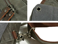 Cool Waxed Canvas Mens  Chest Bag Sling Bag One Shoulder Packs for men