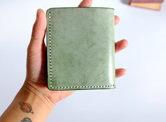 Handmade LEATHER Womens Small Bifold Wallet Leather Small Wallets FOR Women
