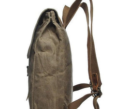 Cool Waxed Canvas Mens School Backpack Canvas Travel Backpack Canvas Backpack for Men