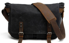 Mens Waxed Canvas Camera Messenger Bag Side Bag Camera Shoulder Bag for Men