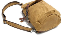 Cool Waxed Canvas Mens One Shoulder Pack Sling Bag Chest Bag for men