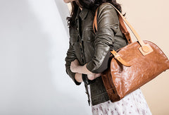 Handmade Genuine Leather Handbag Shopper Bag Purse Shoulder Bag Purse For Women