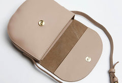 Cute Leather Women Round Crossbody Bag Shoulder Bag Purse for Women