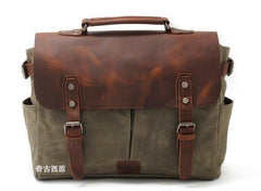 Mens Waxed Canvas Camera Side Bag Camera Messenger Bag Courier Bag Camera Shoulder Bag for Men