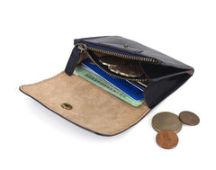 Leather Mens Front Pocket Wallet Small Wallet Card Wallet Change Wallet for Men
