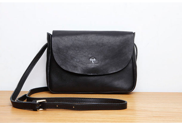 Handmade Genuine Leather Cute Crossbody Fashion Wallet Shoulder Bag Women Leather Purse