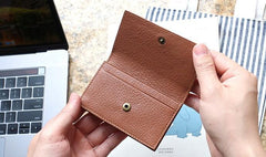 Leather Mens Card Wallet Front Pocket Wallet Small Slim Wallets Change Wallet for Men