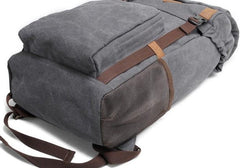 Cool Waxed Canvas Mens Hiking Backpacks Canvas Travel Backpack for Men