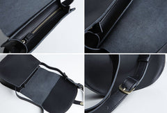 Genuine Leather Cute Crossbody Bag Saddle Bag Shoulder Bag Women Girl Fashion Leather Purse