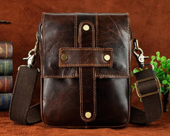 Cool Mens Leather Small Side Bag Belt Pouch Holster Belt Case Waist Pouch for Men