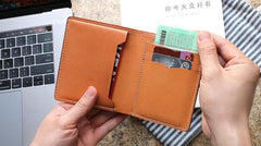 Cool Leather Mens Camouflage Small Wallet Front Pocket Wallet Short Slim Wallet for Men