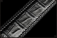 Handmade Black Leather Mens Belts Cool Leather Mens Belt for Men