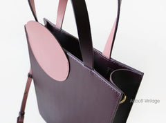 Stylish Leather Purple Blue Womens Tote Handbag Purse Shoulder Bag for Women