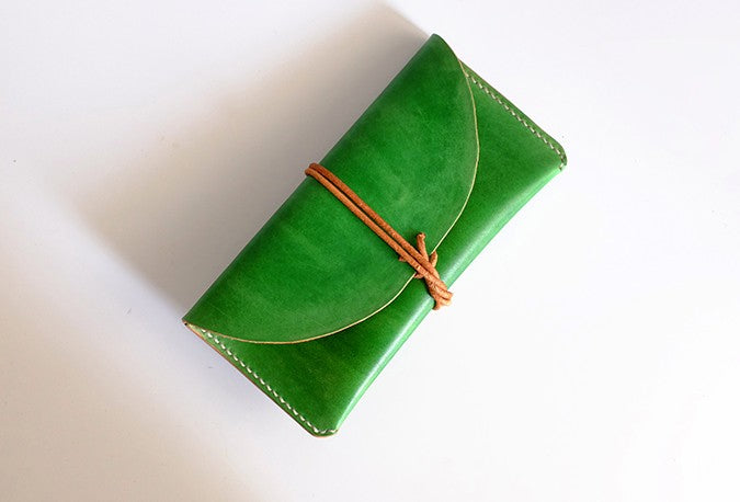 Handmade LEATHER Womens Long Wallet Leather Envelope Long Wallets FOR Women
