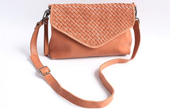 Fashion WOMENs Braided LEATHER Large Wristlet Purse Shoulder Bag Purse FOR WOMEN