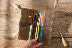 Cool Canvas Leather Mens Long Wallet Long Wallet for Men