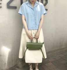 Cute Canvas Leather Womens Backpack Travel Backpack School Backpack for Women
