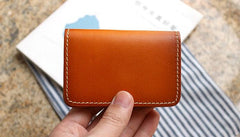 Cool Leather Mens Card Wallet Front Pocket Wallets Small Change Wallet for Men