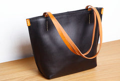 Genuine Leather Handbag Small Tote Bag Shopper Bag Shoulder Bag Purse For Women