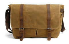 Waxed Canvas Mens Camera Shoulder Bag Canvas Messenger Bag Canvas Camera Side Bag for Men