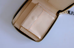 Handmade LEATHER Womens Zipper Small Wallet Leather Wristlet Small Wallet FOR Women