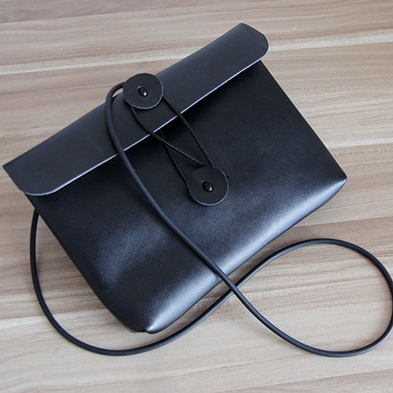 Cute LEATHER WOMEN File SHOULDER BAG Envelope Crossbody Purse FOR WOMEN