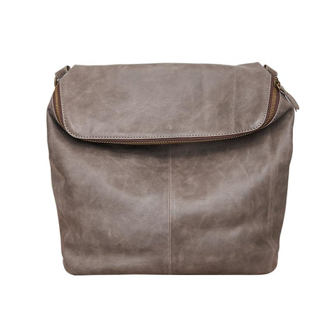 Cool Leather Mens Messenger Bag Square Brown Leather Courier Bags Postman Bags for Men
