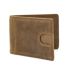 RFID Leather Slim Mens Small Wallet Short Bifold Wallet Front Pocket Wallet for Men
