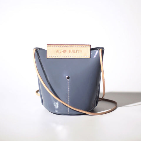 Handmade Fashion Women Leather bucket crossbody bag Barrel shoulder bag for women