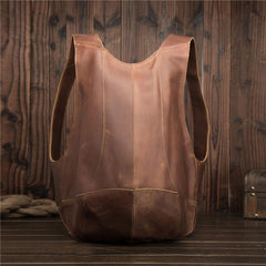 Cool and Unique Leather Mens Backpack School Backpack Travel Backpack for Men