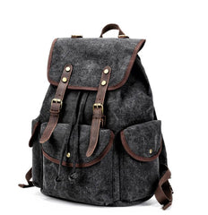 Cool Gray Fashion Mens Green Large Travel Backpack  14'' Computer Backpack for Men