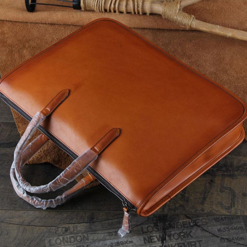 Handmade Leather Mens Cool Messenger Bag Briefcase Work Bag Laptop Bag for men