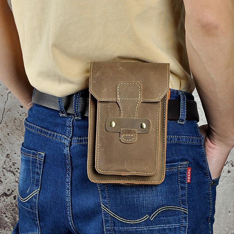 save off 897c0 989e6 Leather Mens Cigarette Cases with Belt Loop Cell Phone Holster Belt Pouch  for Men