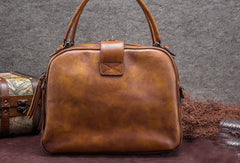 Genuine Leather Handbag Vintage Bag Shoulder Bag Crossbody Bag Purse For Women