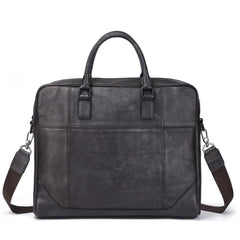 Vintage Leather Mens Briefcase Postman Bag 14inch Laptop Bag Handbag Work Bag For Men