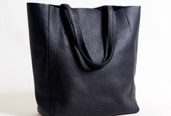 Handmade Leather black tote bag for women leather shoulder bag handbag