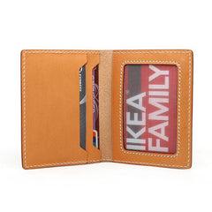 Leather Mens Card Wallets Small Wallet Slim Wallet Front Pocket Wallet for Men