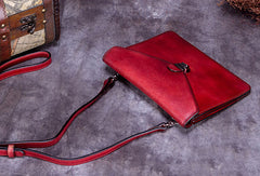 Genuine Leather Handbag Vintage Bag Shoulder Bag Crossbody Bag Purse Clutch For Women