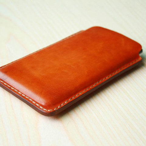 Handmade Mens Leather iPhonex xr plus 6s 7s plus iPhone Case
