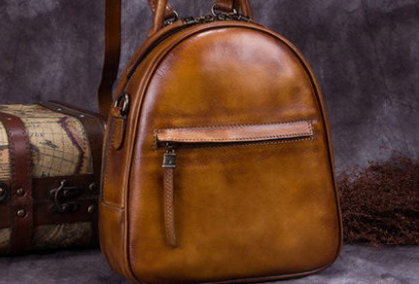 fb72cac880e Vintage Womens Leather Backpack School Backpacks Purse Small Backpack For  Women
