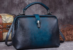 Genuine Leather Handbag Vintage Doctor Bag Crossbody Bag Shoulder Bag Purse For Women
