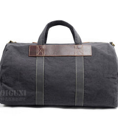 Mens Waxed Canvas Weekender Bag Canvas Travel Bag Canvas Overnight Bag for Men