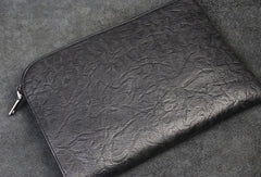 Handmade Genuine Leather Large Clutch Leather Men Phone Pad Zip Clutch Vintage Wallet For Men
