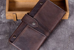 Cool Mens Leather Wallet Long Wallet Vintage Wallet For Men