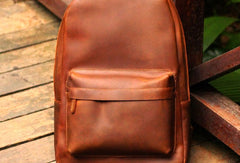 Cool Leather Mens Backpack Vintage Travel Backpack Hiking Backpack for men