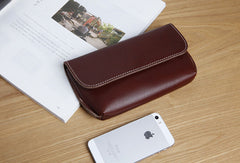 Genuine Leather Cute Long Slim Wallet Clutch Passport Wallet Purse For Women Girl